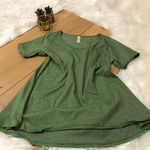 LulaRoe Green Irma Top #271